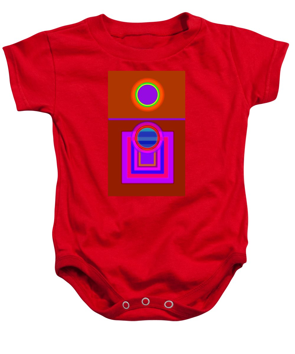 Classical Baby Onesie featuring the digital art Fever Pitch by Charles Stuart