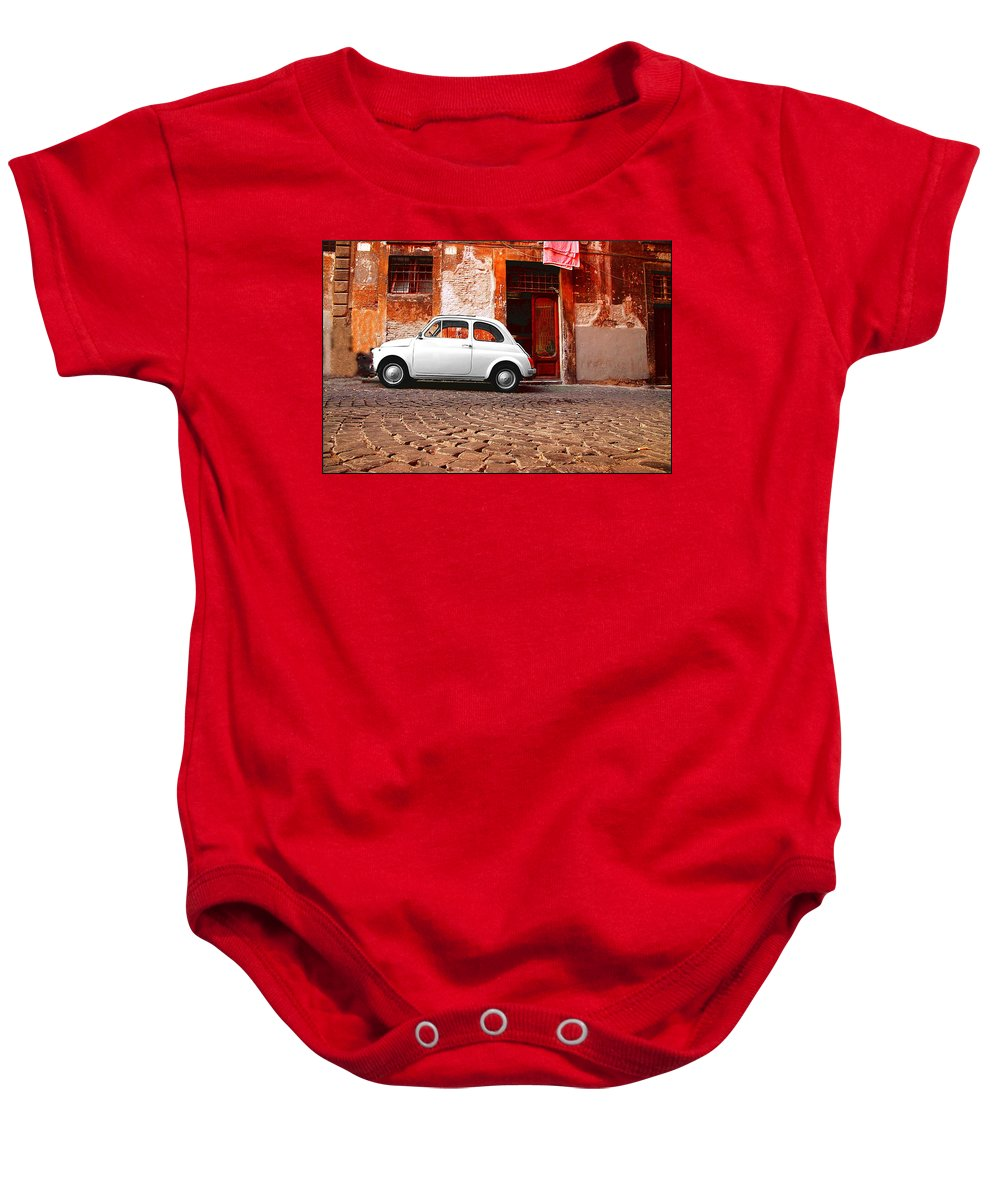 Fiat Baby Onesie featuring the photograph Fiat 500 by Valentino Visentini