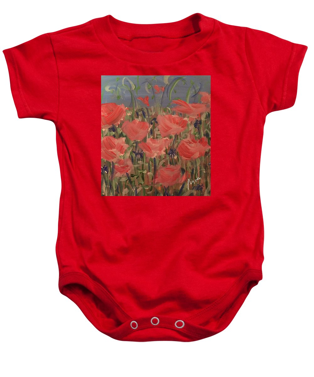 Flowers Baby Onesie featuring the digital art Field by Mary Jo Hopton