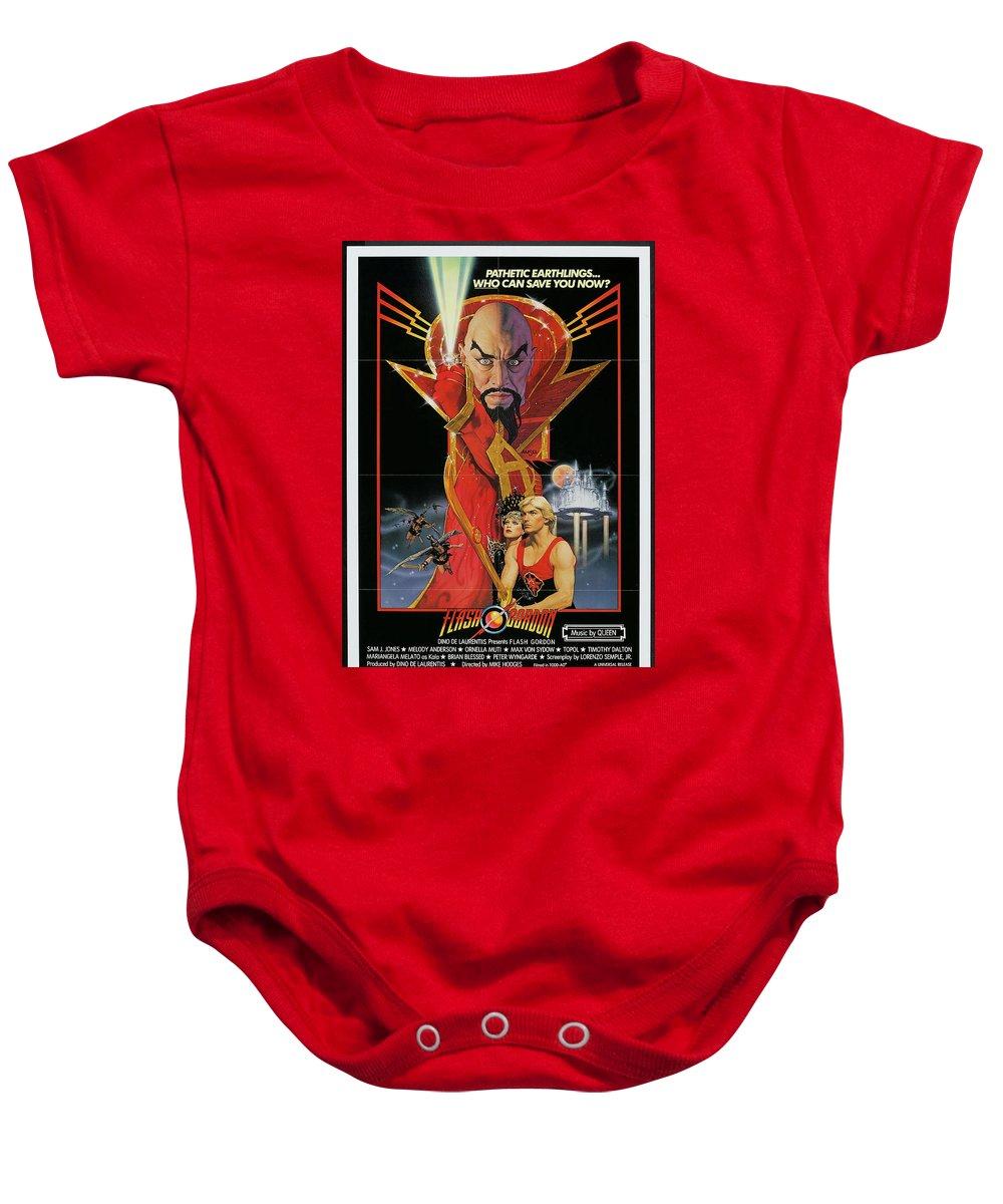 Flash Gordon Baby Onesie featuring the digital art Flash Gordon by Geek N Rock