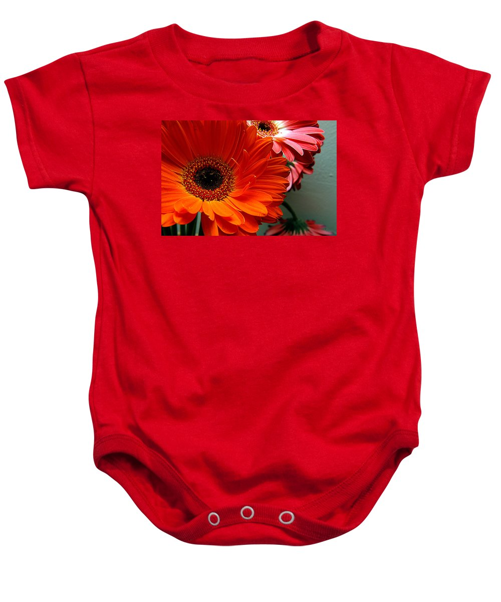 Clay Baby Onesie featuring the photograph Floral Art by Clayton Bruster