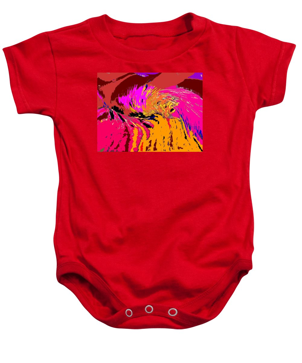 Abstract Baby Onesie featuring the digital art Flow by Ian MacDonald