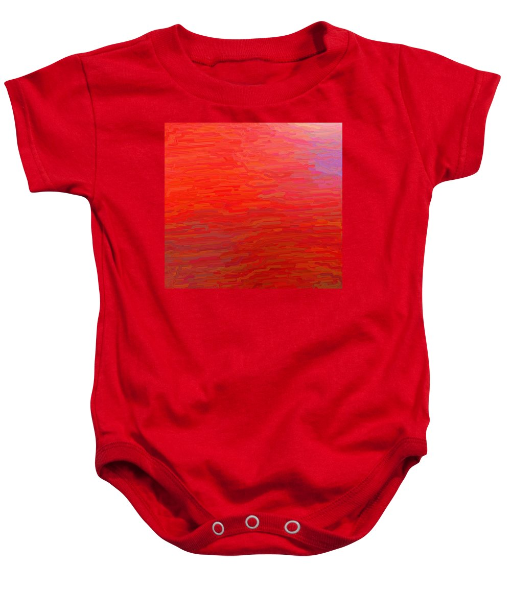 Fluid Baby Onesie featuring the digital art Fluid Motion by April Patterson