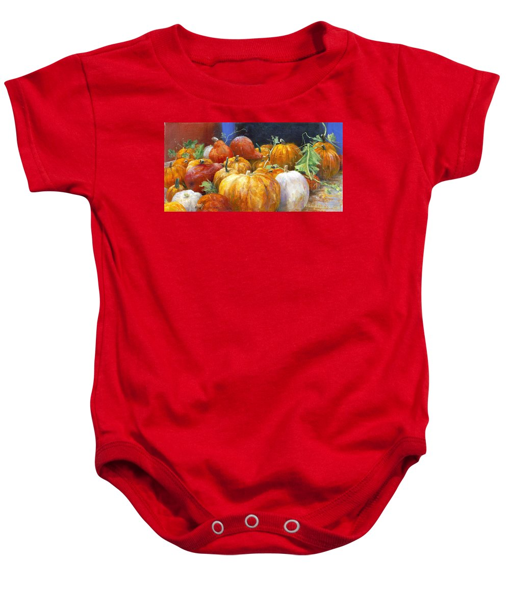 Still Life Baby Onesie featuring the painting For A Thousand by Willis Miller
