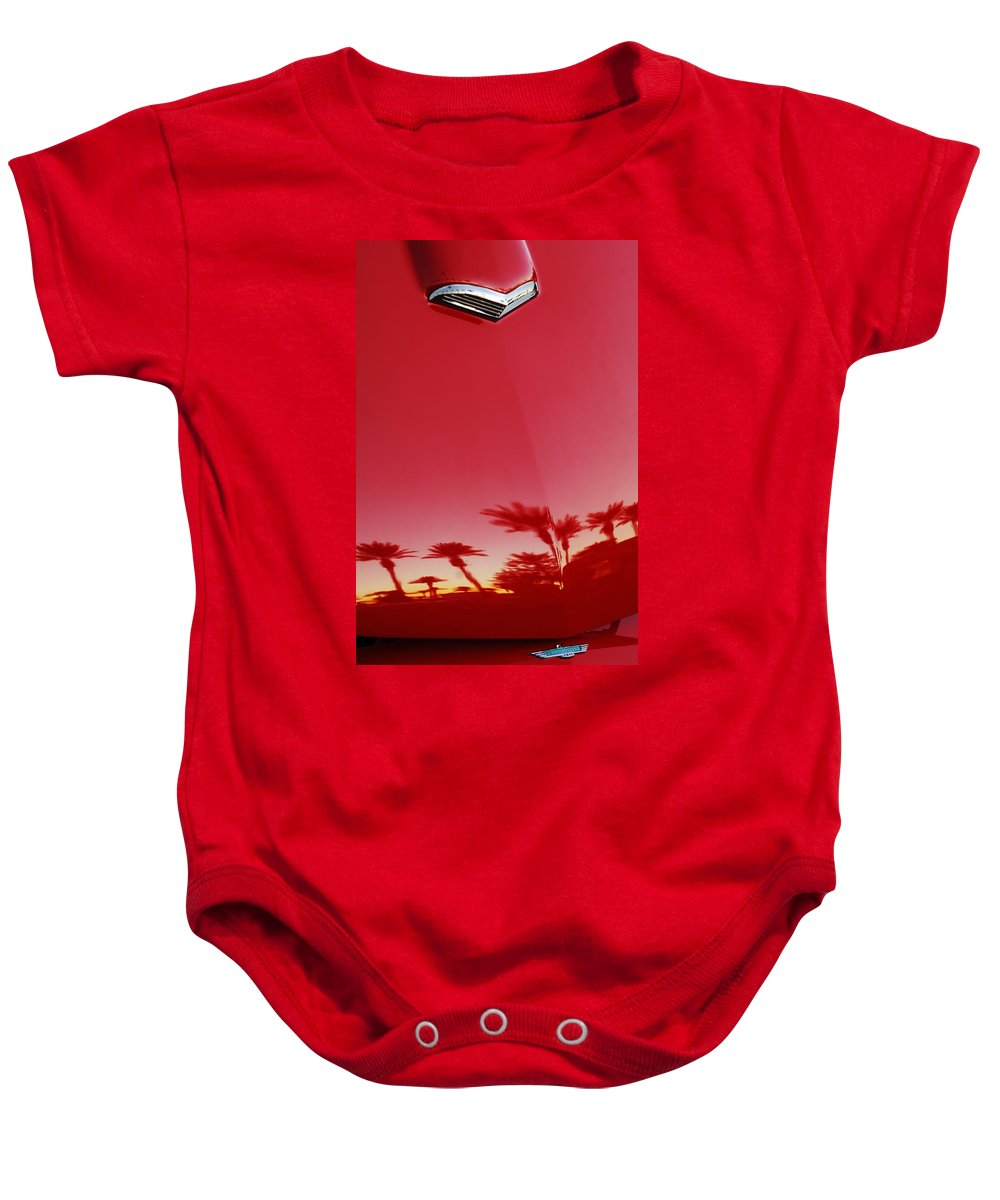 Car Baby Onesie featuring the photograph Ford Thunderbird Hood Ornament by Jill Reger