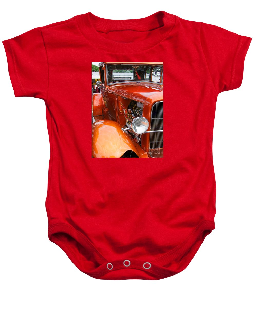 Ford V8 Baby Onesie featuring the photograph Ford V8 Right Side View by Mary Deal