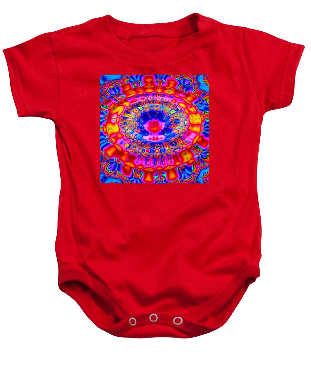 Abstract Baby Onesie featuring the digital art Fountain Of Love by Robert Orinski