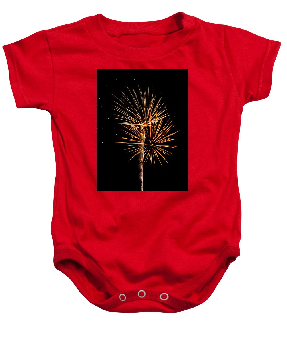 Fireworks Baby Onesie featuring the photograph Fwsc 2014-10 by Frank Henley