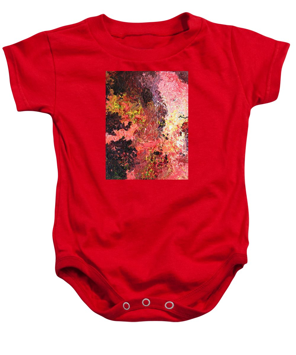 Fusionart Baby Onesie featuring the painting Ganesh In The Garden by Ralph White