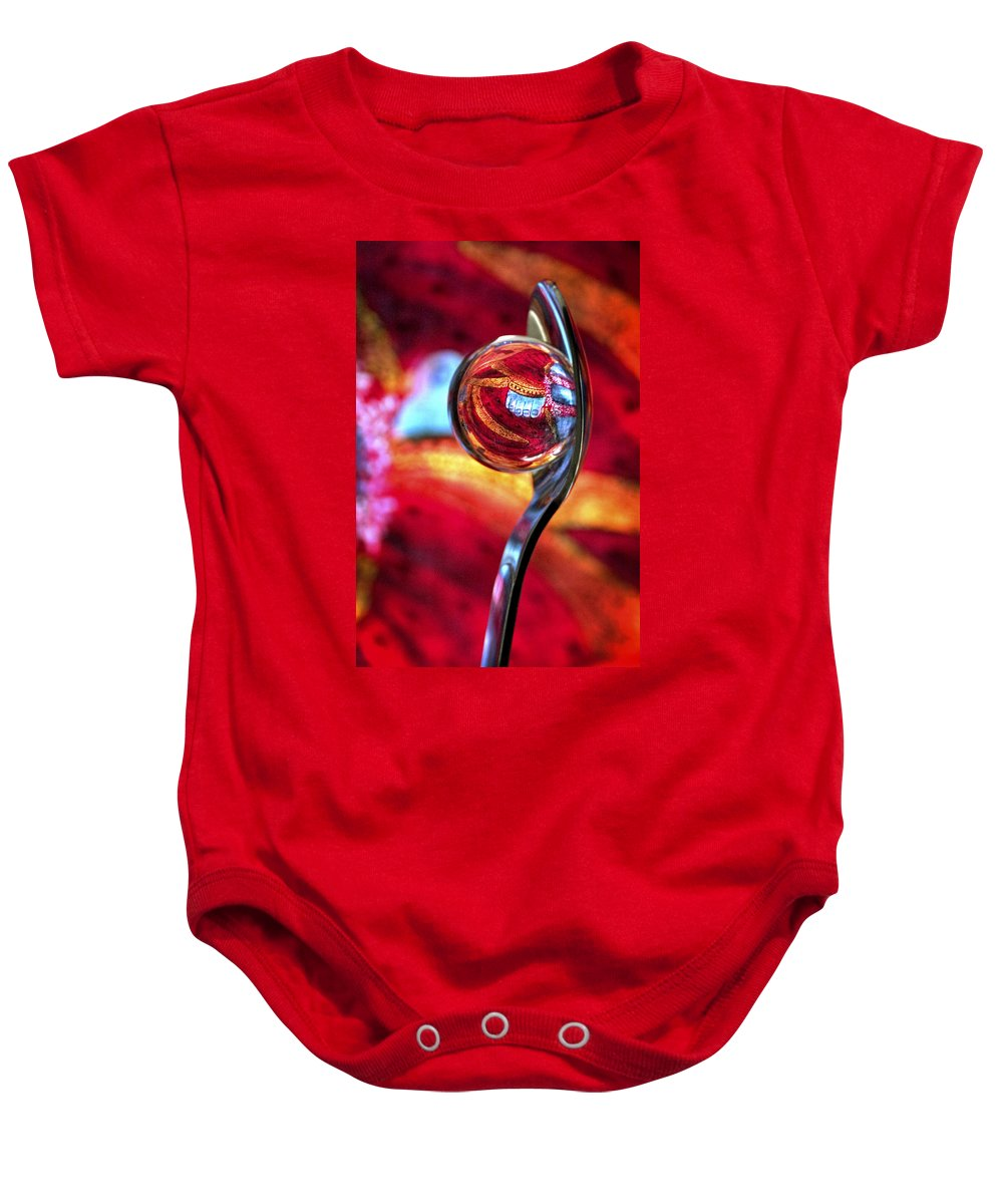 Ball Baby Onesie featuring the photograph Ganesh Spoon by Skip Hunt