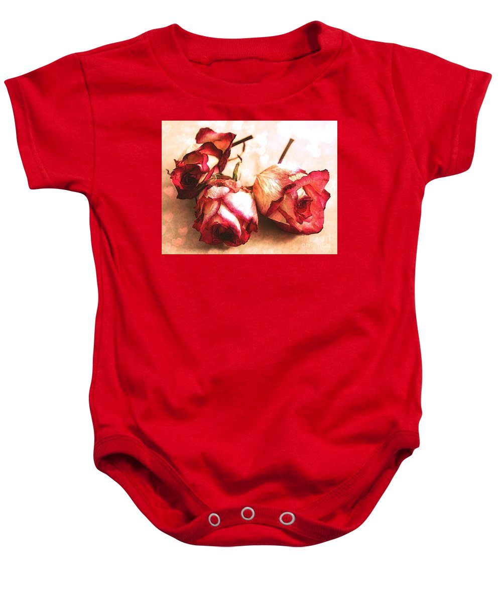 Rosebuds Baby Onesie featuring the photograph Gathering Rosebuds by Julie Street