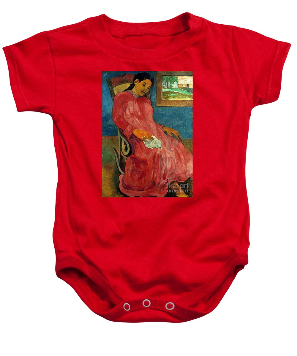 1891 Baby Onesie featuring the photograph Gauguin: Reverie, 1891 by Granger