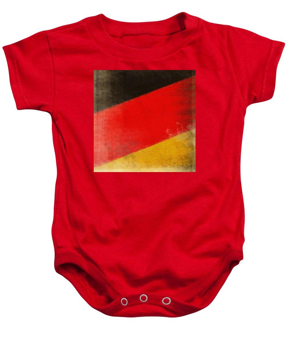 Chalk Baby Onesie featuring the photograph German Flag by Setsiri Silapasuwanchai
