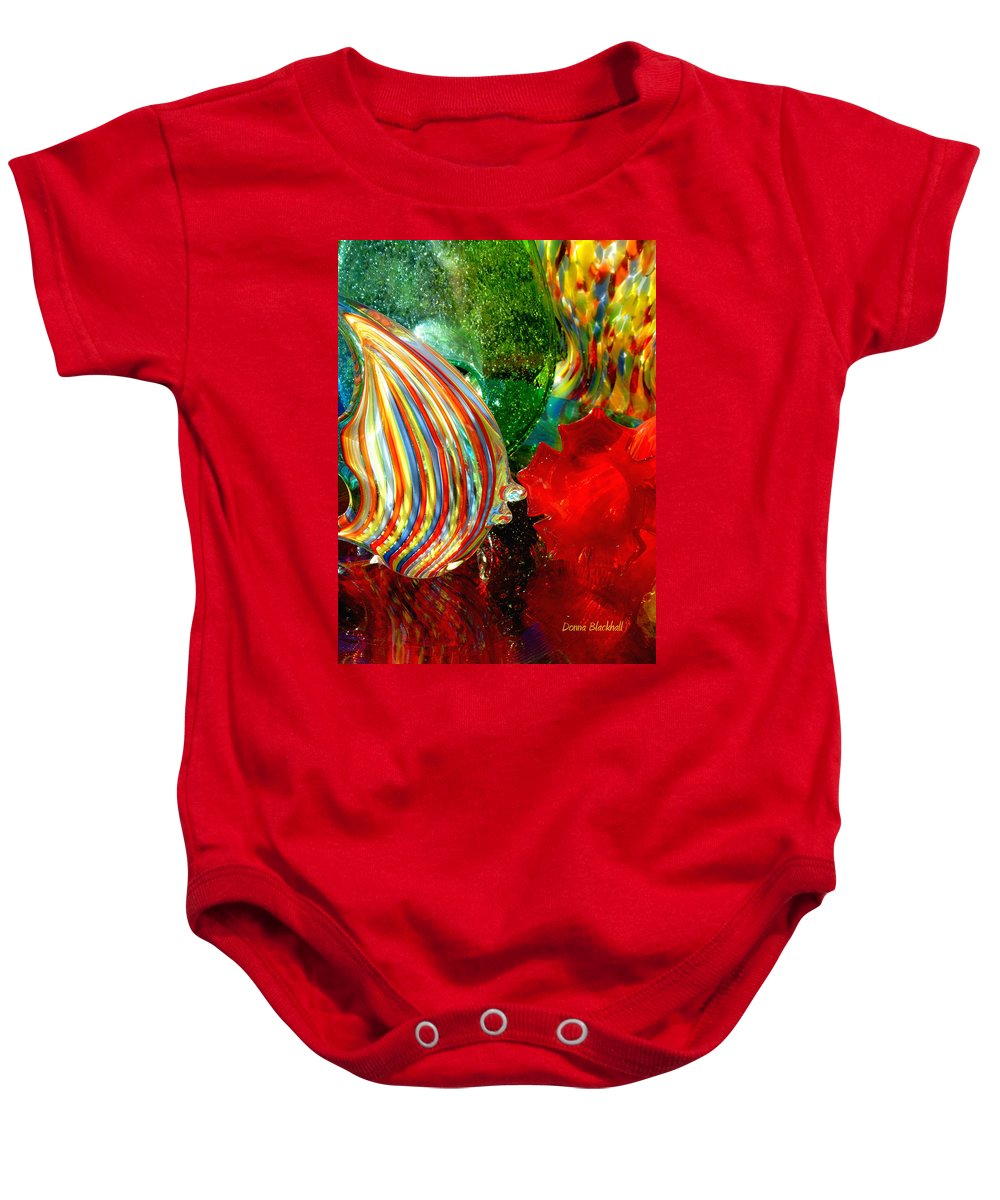 Glass Baby Onesie featuring the photograph Glass Sea by Donna Blackhall