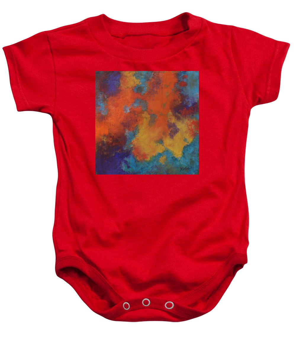 Global Warming Baby Onesie featuring the painting Global Warming by Kim Sobat
