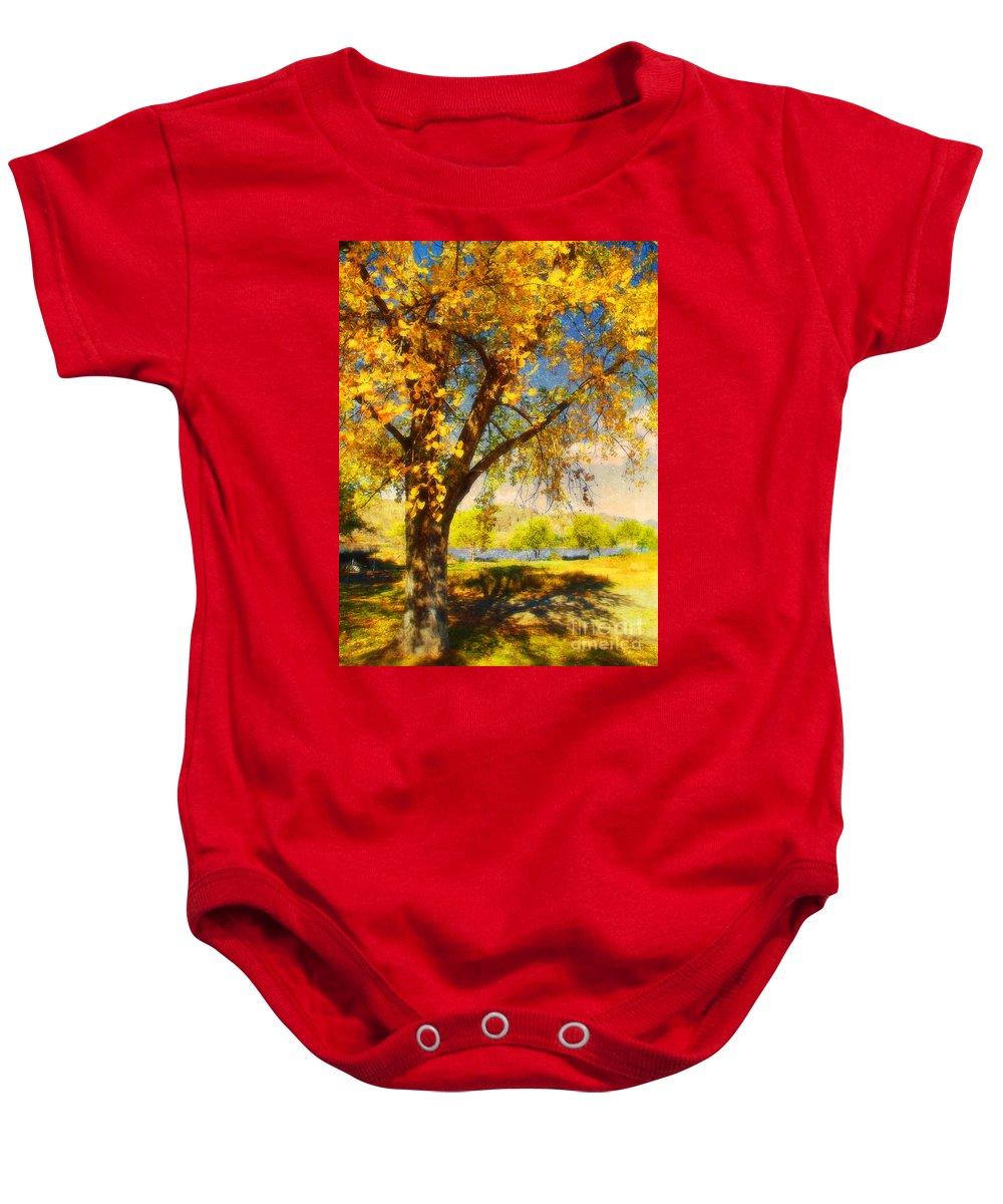 Autumn Baby Onesie featuring the photograph Golden Days by Tara Turner