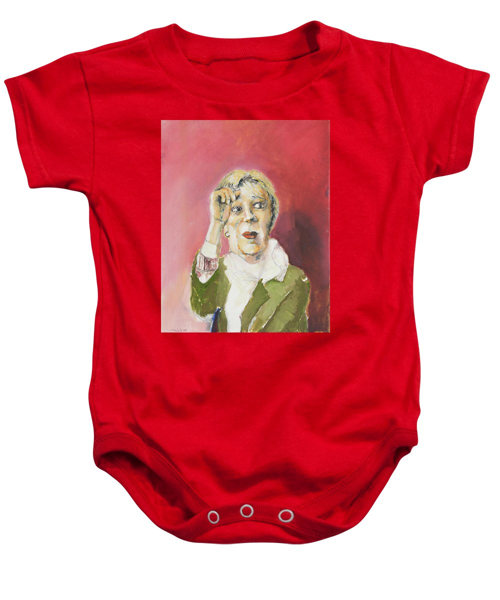 Woman Baby Onesie featuring the painting Goodness by Craig Newland
