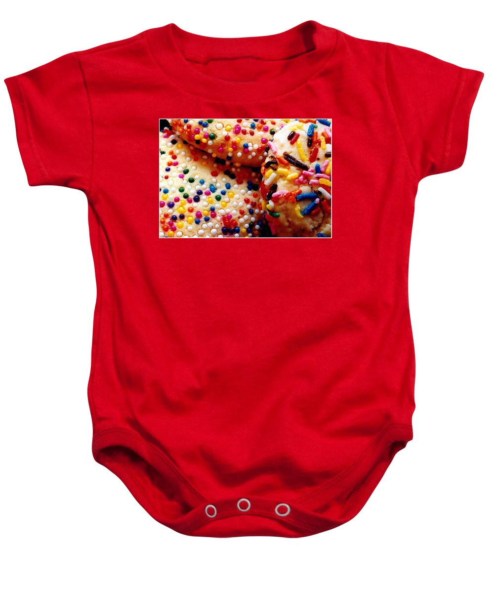 Cookie Baby Onesie featuring the photograph Holiday Cookies by Nancy Mueller