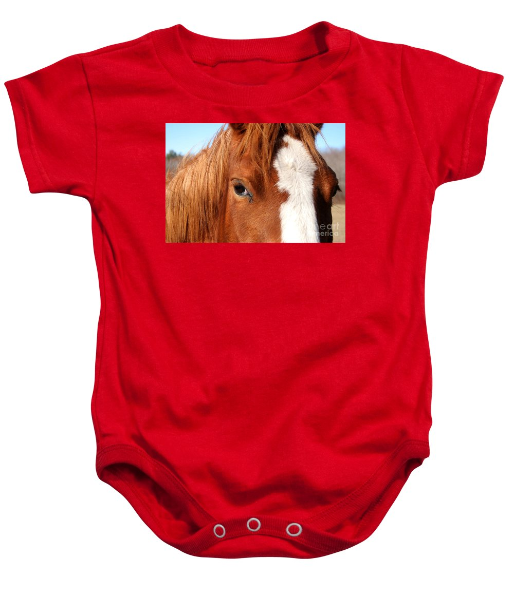 Horse Baby Onesie featuring the photograph Horse's Mane by Thomas Marchessault