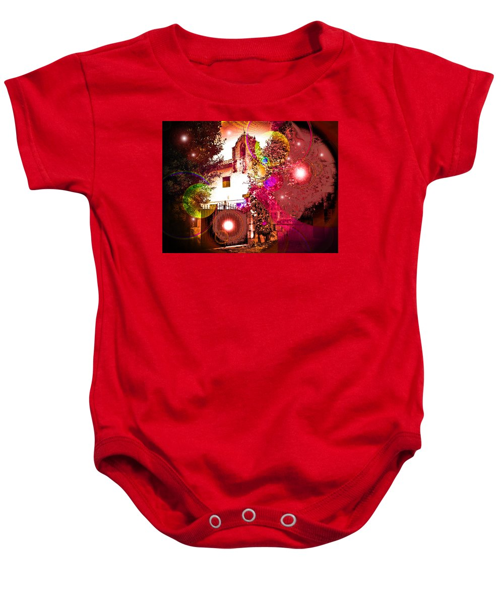 House Of Magic Baby Onesie featuring the photograph House Of Magic by Ingrid Dance