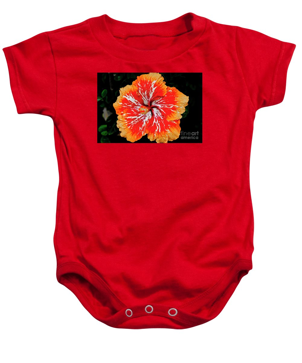 Flower Baby Onesie featuring the photograph Hybrid Hibiscus II Maui Hawaii by Jim Cazel