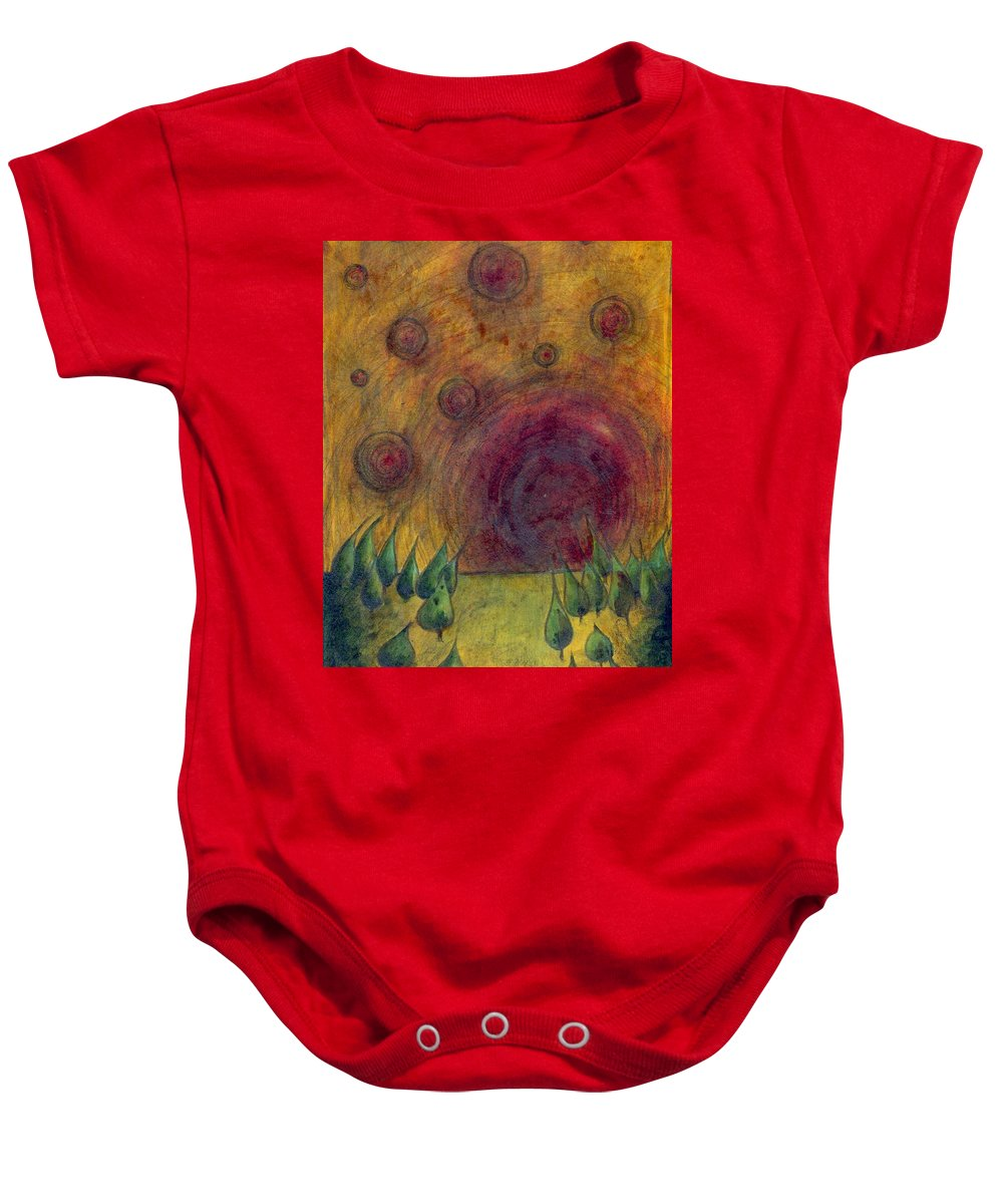 Colour Baby Onesie featuring the painting I Go There by Wojtek Kowalski