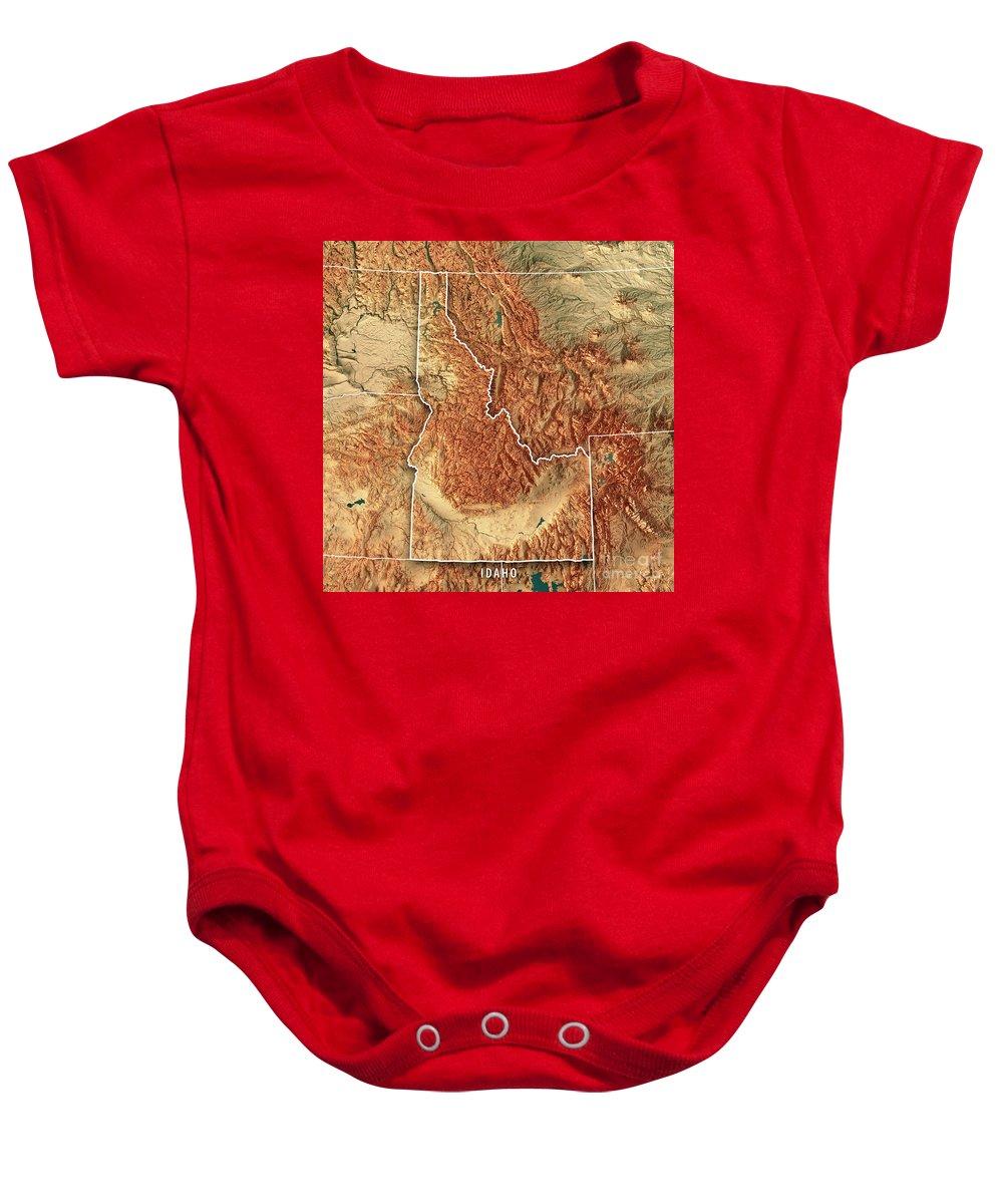 Idaho State Usa 3d Render Topographic Map Border Baby Onesie on usa map oregon trail, usa map guam, usa map bahamas, usa map cascade, usa map indianapolis indiana, usa map fort lauderdale, usa map with oregon, usa map by zipcode, usa map fort worth, usa map nd, usa map little bighorn, usa map virgin islands, usa map snake river, usa map buffalo, usa map akron, usa map roanoke, usa map long island, usa map orange county, usa map california, usa map cincinnati,