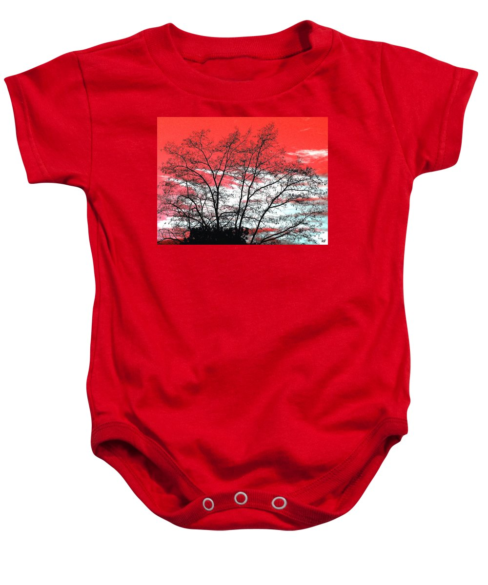 Impressions Baby Onesie featuring the digital art Impressions 6 by Will Borden