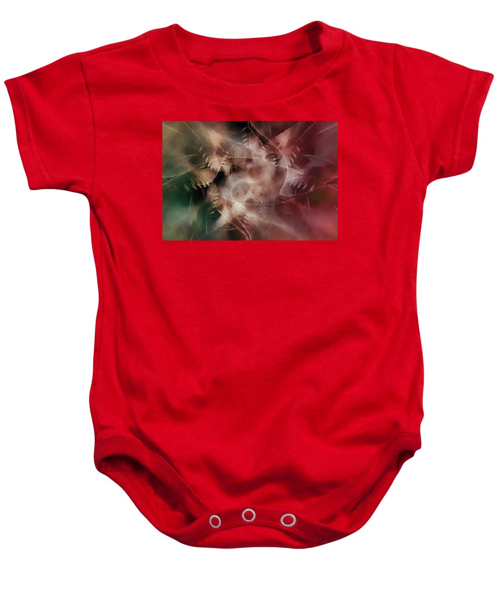 Digital Baby Onesie featuring the digital art Indigenous Spirits by Andy Young