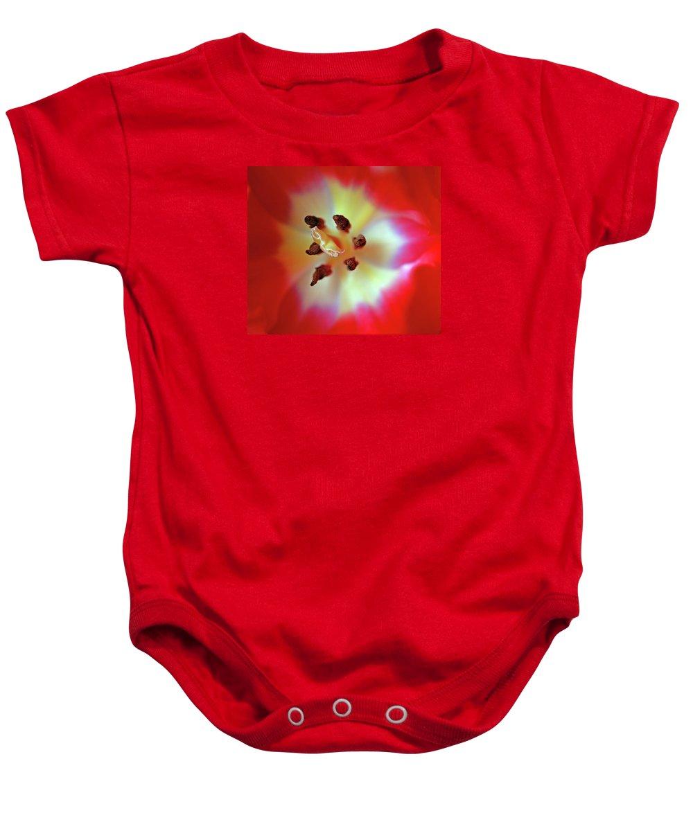 Tulip Baby Onesie featuring the photograph Inner Spirit by Bill Morgenstern