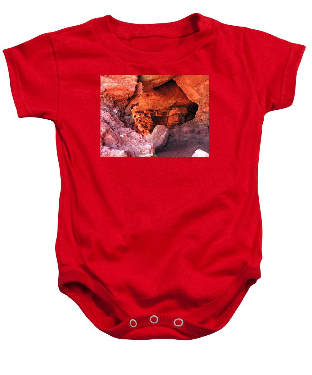Nature Baby Onesie featuring the photograph Into The Cave by Adam Vance