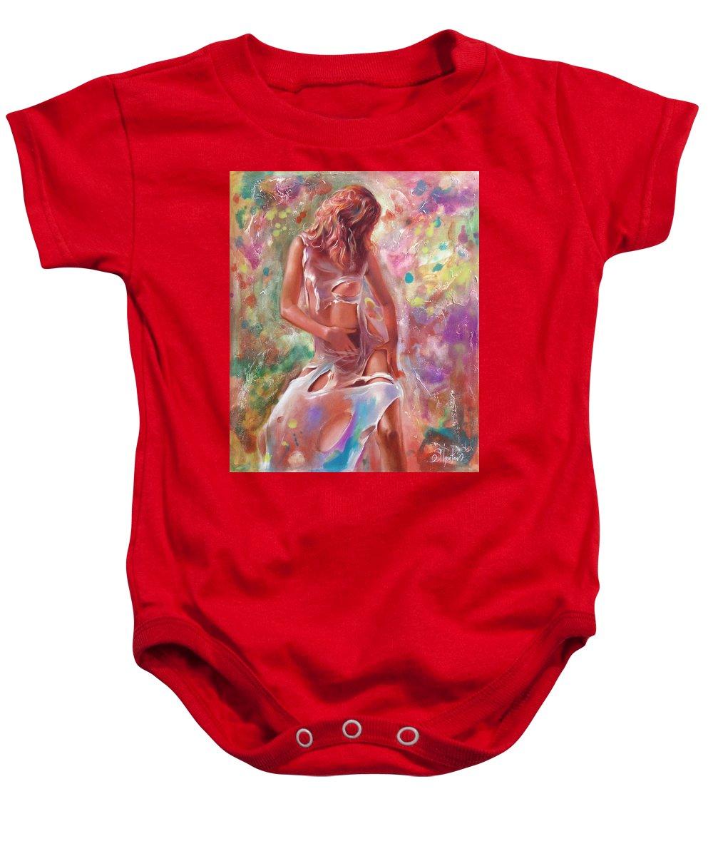 Ignatenko Baby Onesie featuring the painting Jam by Sergey Ignatenko