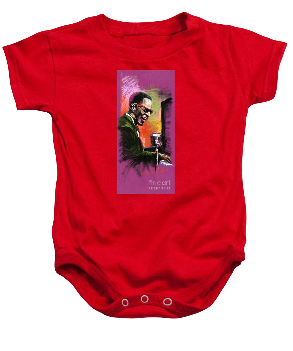 Baby Onesie featuring the painting Jazz. Ray Charles.2. by Yuriy Shevchuk