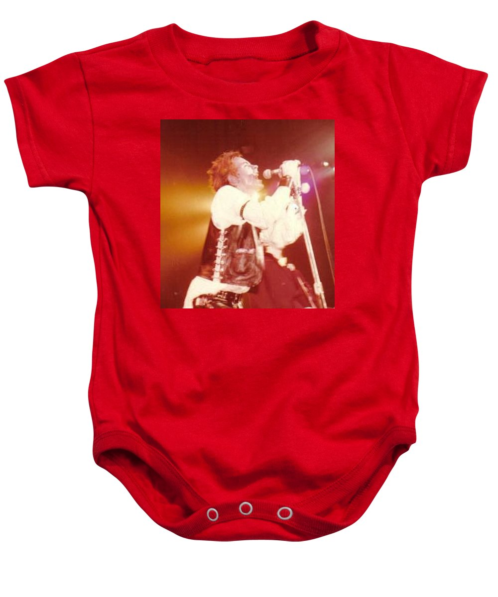 John Rotten-1978 Copyrighted Dawn Wirth Baby Onesie featuring the photograph John Rotten-1978 In San Francisco  by Dawn Wirth