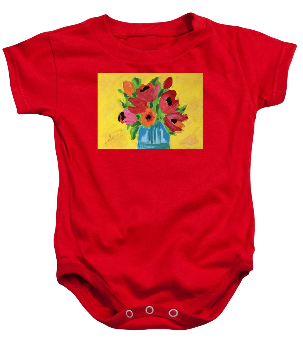Easterseals Southwest Florida Baby Onesie featuring the painting Julene's Bouquet by Julene K