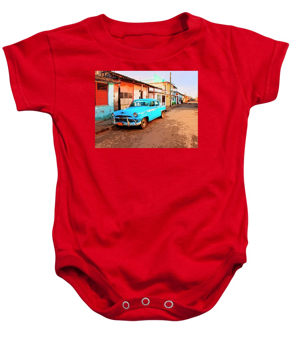 Just Chillin Baby Onesie featuring the mixed media Just Chillin by Dominic Piperata