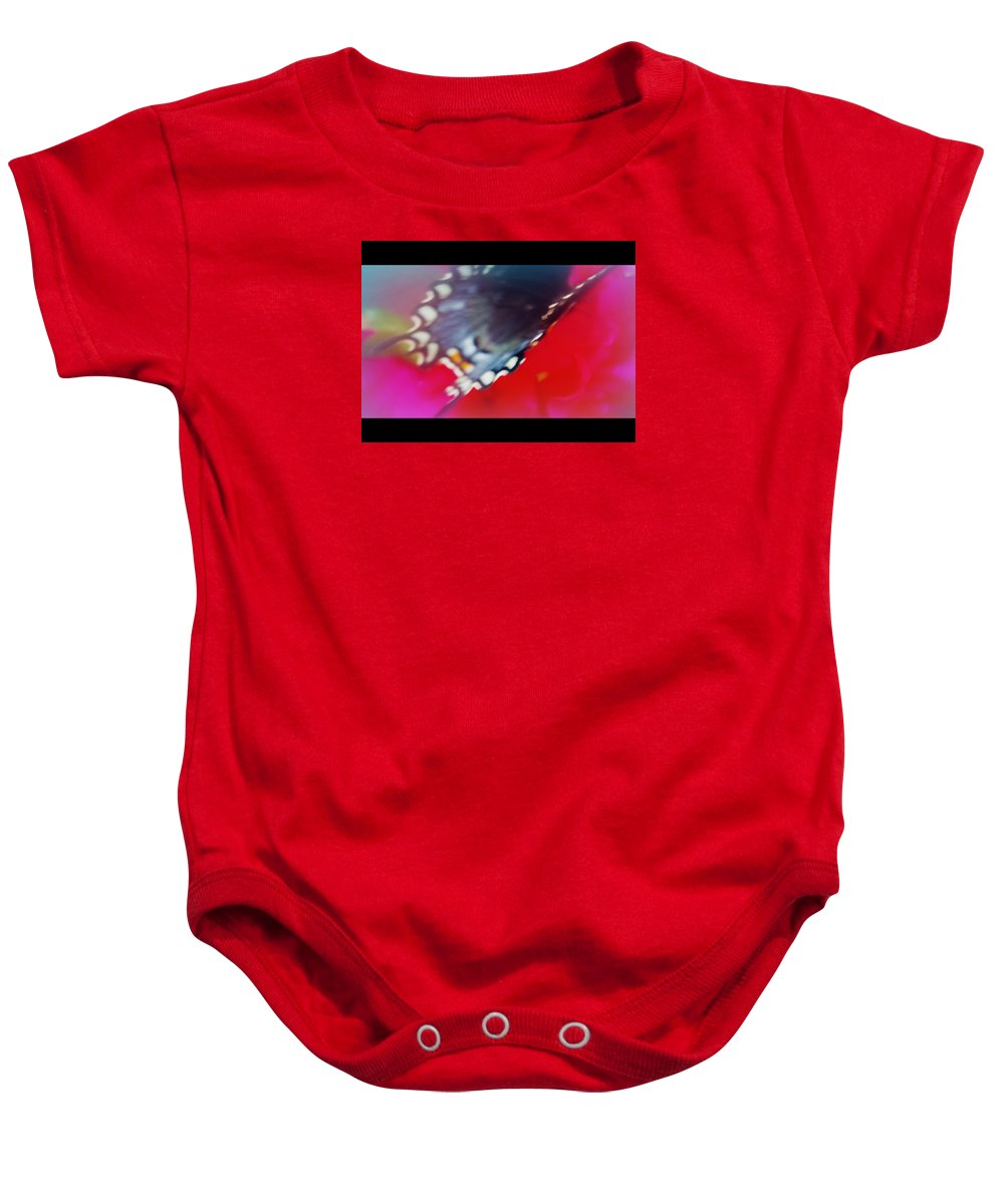 Butterfly Baby Onesie featuring the photograph Just Stopping By by Sheila June Denson