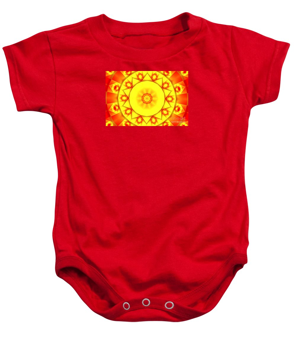 Kaleidoscope Baby Onesie featuring the photograph Kaleidoscope 100 by Ron Bissett