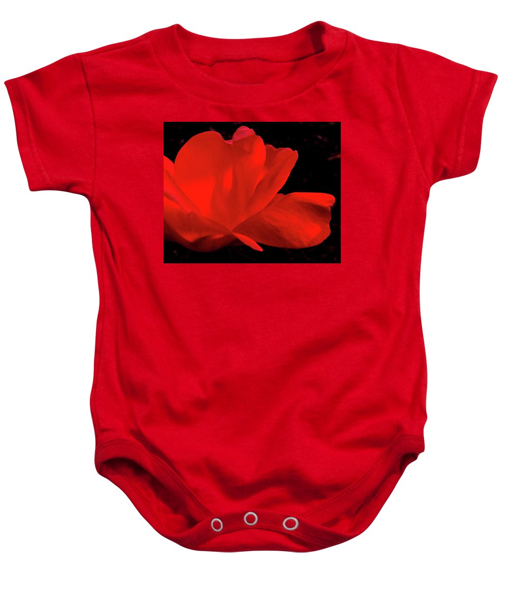 Rose Baby Onesie featuring the photograph Knockout by Peg Urban