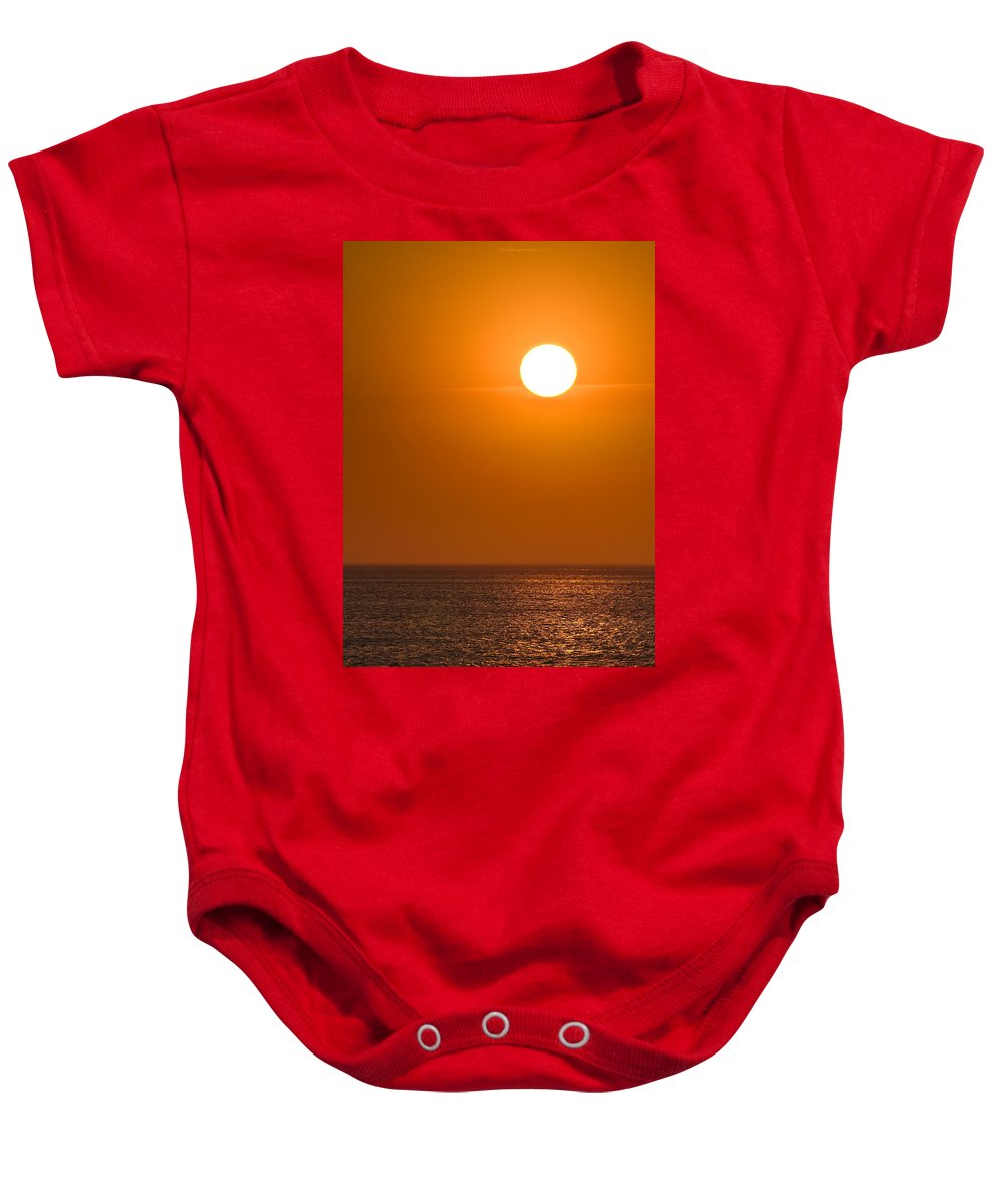 Chicago Baby Onesie featuring the photograph Lake Michigan Sunrise Chicago by Steve Gadomski