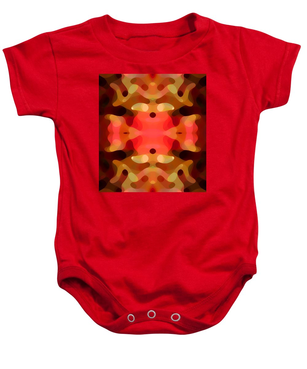 Abstract Painting Baby Onesie featuring the digital art Las Tunas Abstract Pattern by Amy Vangsgard
