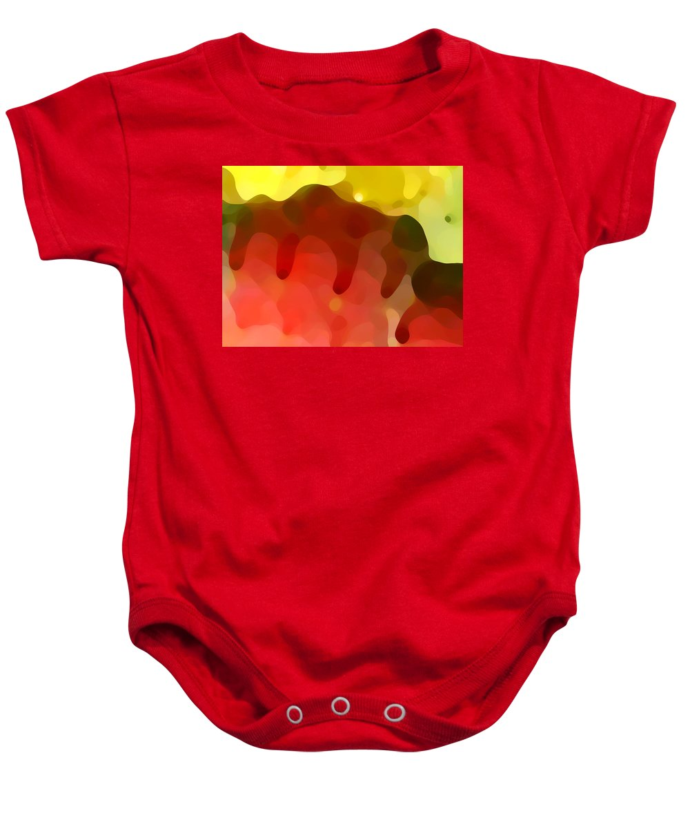 Abstract Baby Onesie featuring the painting Las Tunas Ridge by Amy Vangsgard