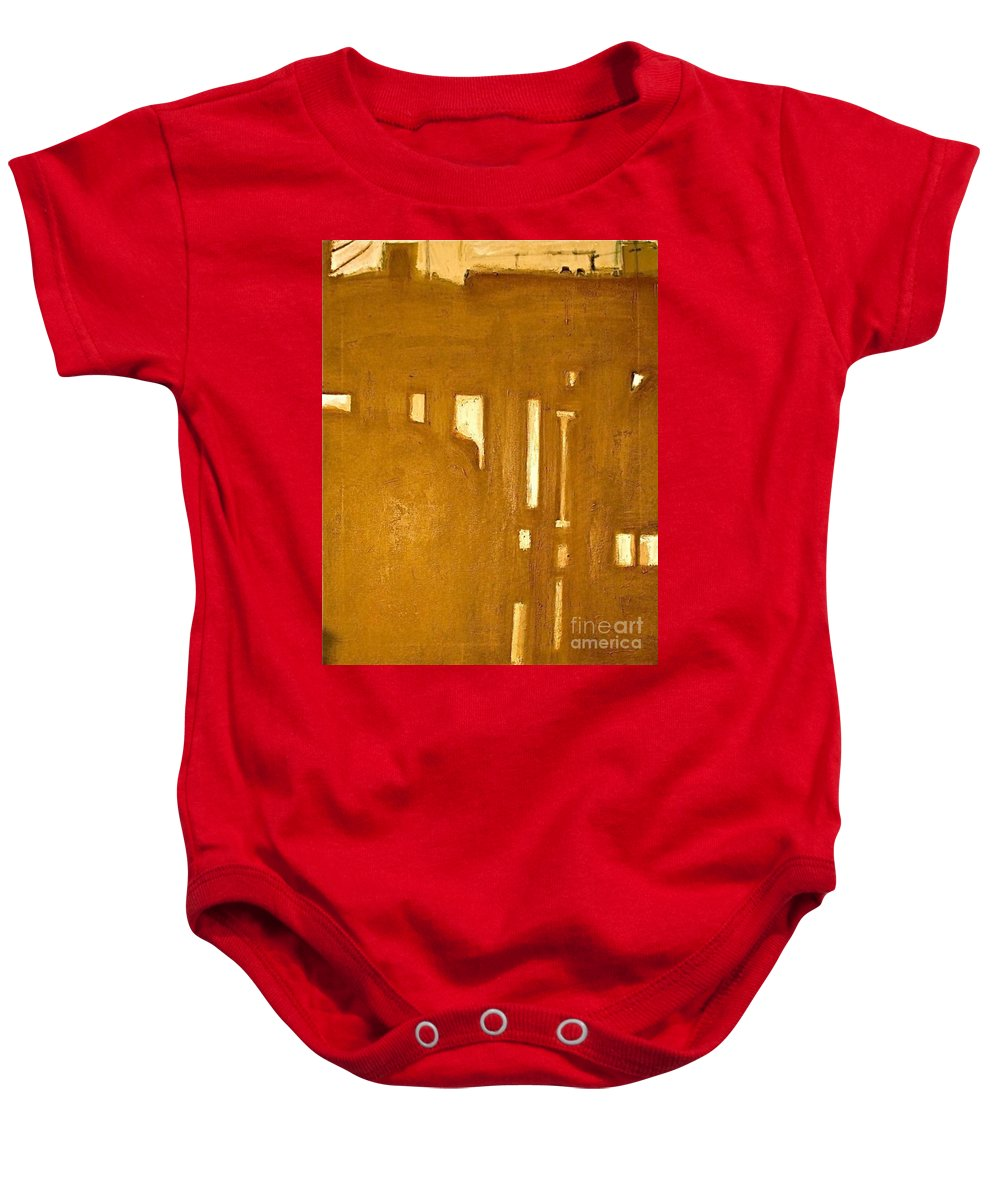 Architecture Baby Onesie featuring the painting Le Berceau D Industrie The Cradle Of Industry by Contemporary Luxury Fine Art