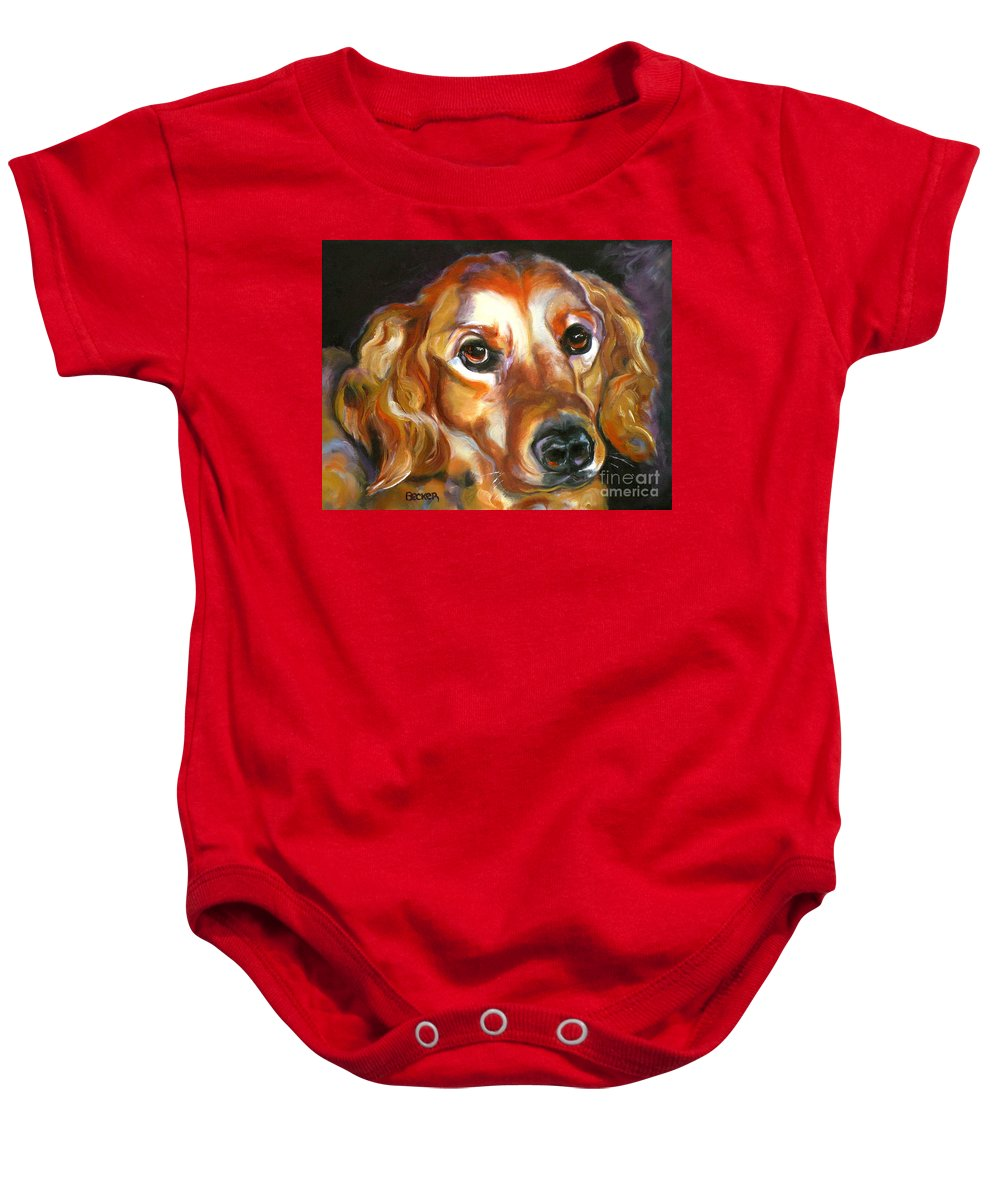 Oil Baby Onesie featuring the painting Let The Sunshine In by Susan A Becker