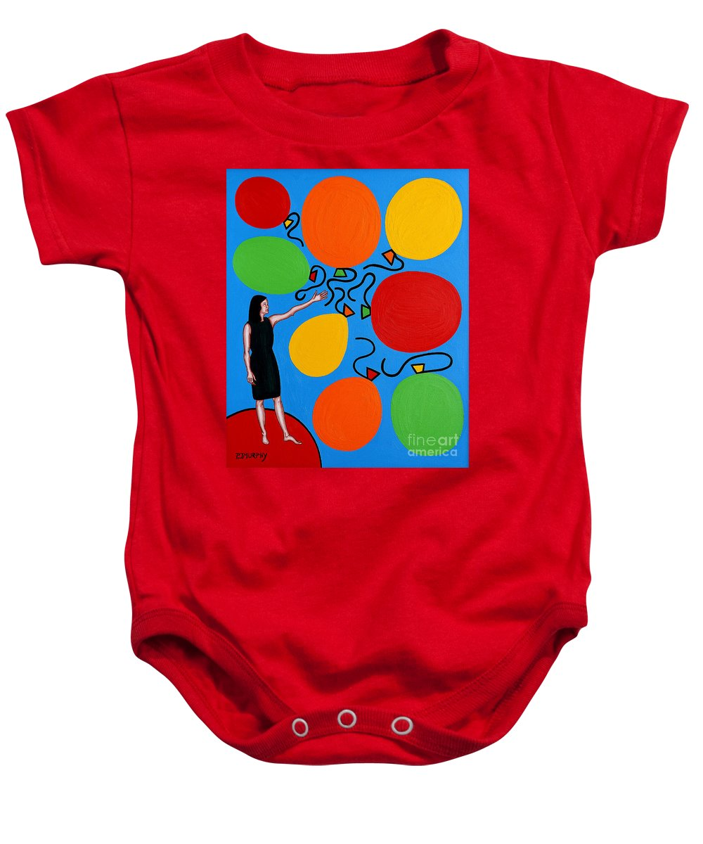 Release Baby Onesie featuring the painting Letting Go by Patrick J Murphy