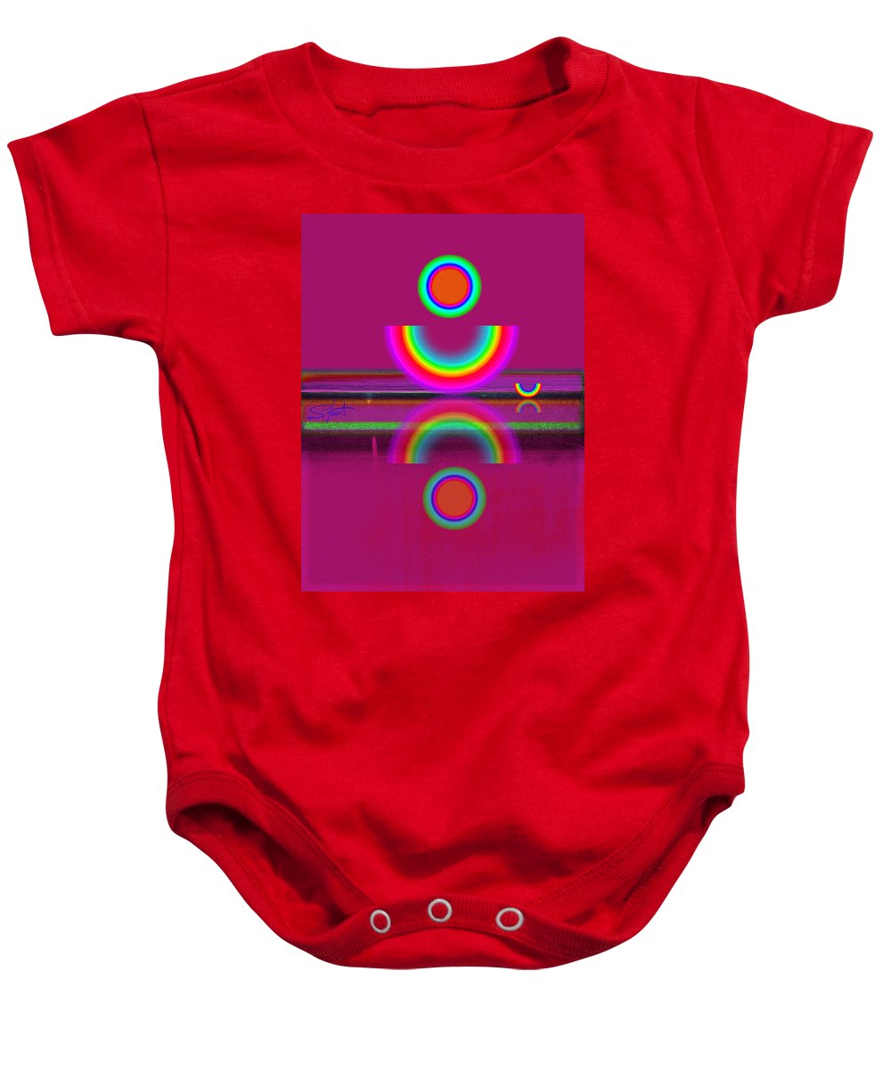 Reflections Baby Onesie featuring the painting Light Red by Charles Stuart
