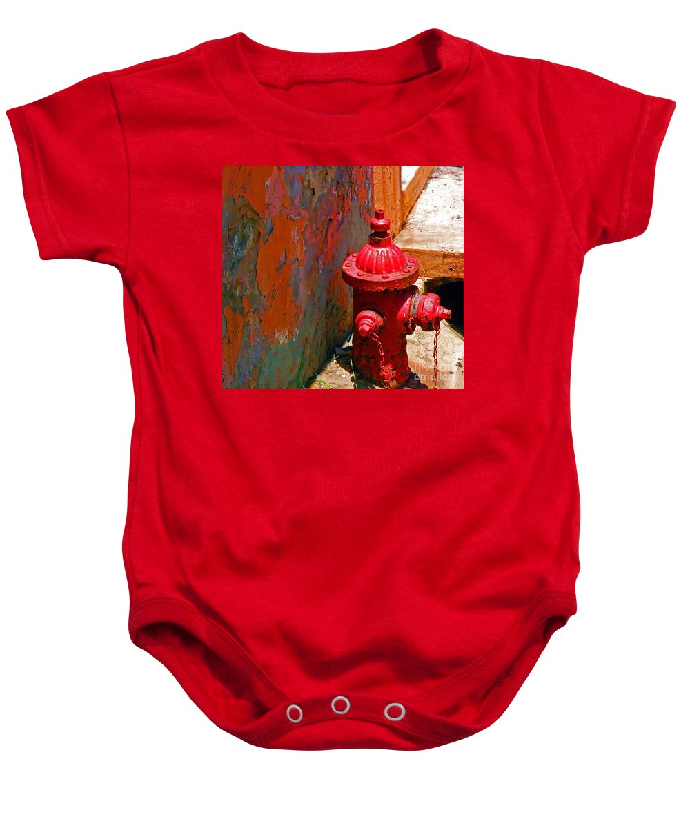 Red Baby Onesie featuring the photograph Lil Red by Debbi Granruth