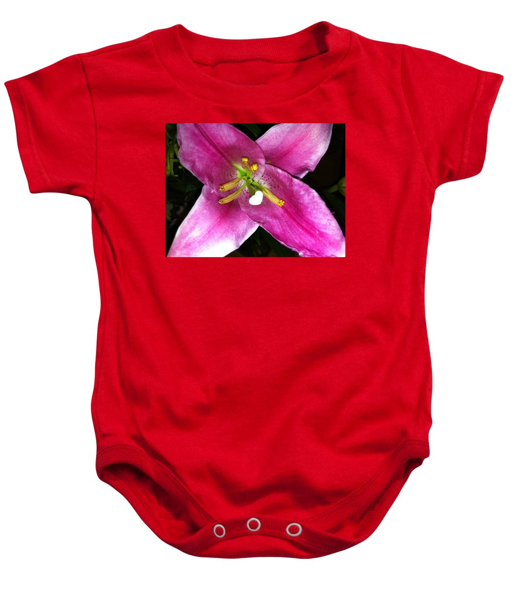 Flower Baby Onesie featuring the photograph Lily by Kimberly Mohlenhoff