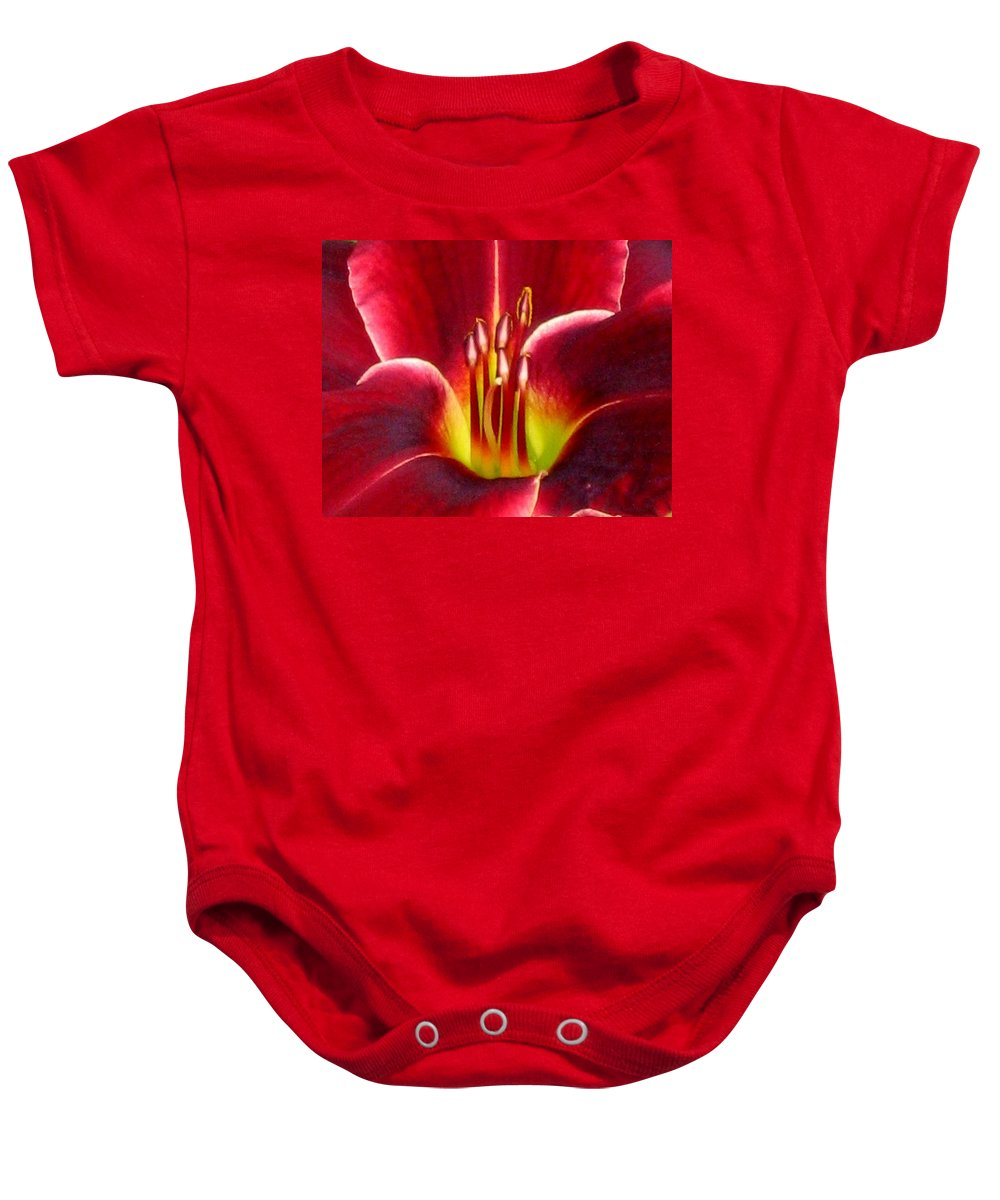 Floral Baby Onesie featuring the photograph Lily's Way by Marla McFall