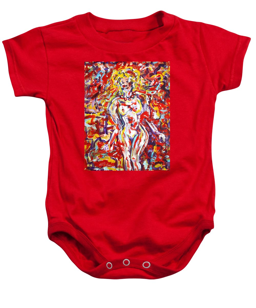 Expressionism Baby Onesie featuring the painting Longing For You by Natalie Holland